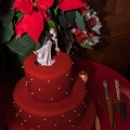 Poinsettia Red with Pearls